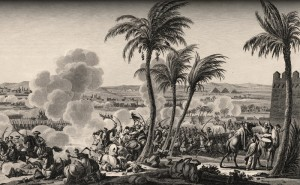 The Battle of the Pyramids, also known as the Battle of Embabeh, was fought on July 21st, 1798.