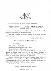 FPart décès Maurice M